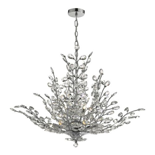 Cordelia 9 Light Pendant Chrome & Crystal, double insulated, BXCOR1350-17